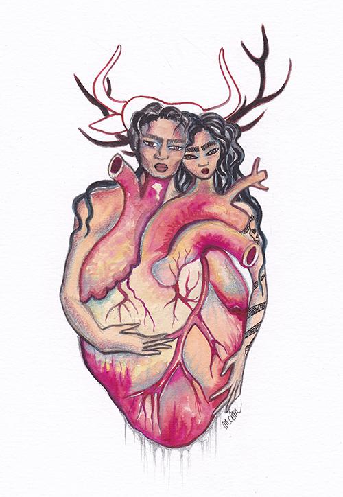 6-1 coeurs liés